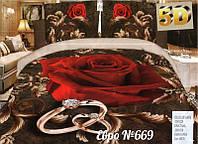 Комплект постельного белья (евро-размер) - № 669
