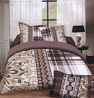Комплект постельного белья (евро-размер) № 723 код: 723