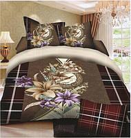 Комплект постельного белья (евро-размер) № 720 код: 0005