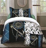 Комплект постельного белья (евро-размер) № 733 код: 733