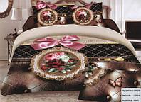 Комплект постельного белья (евро-размер) № 735 код: 735