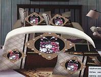 Комплект постельного белья (евро-размер) № 736 код: 736