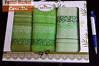 Кухонные салфетки бамбук SOFT LIFE (30х50 - 3 шт) зеленый