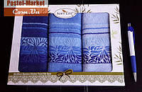 Кухонные салфетки бамбук SOFT LIFE (30х50 - 3 шт) синий