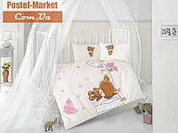 Aran CLASY Ranforce Teddy розовый в кроватку
