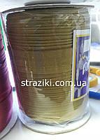 1,5см косая-бейка золото 1боб (Окантовочная атласная бейка)