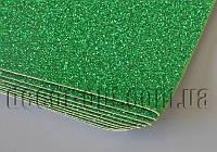 Дизайнерский картон с глитером зеленый KSB280гр/В2(500х707мм) 1 лист