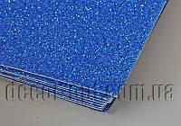 Дизайнерский картон с глитером синий KSB280гр/В2(500х707мм) 1 лист