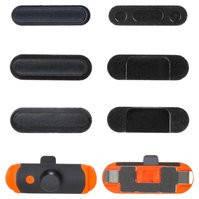 Пластик боковых кнопок корпуса для планшета Apple iPad Mini 2 Retina, полный комплект, черный