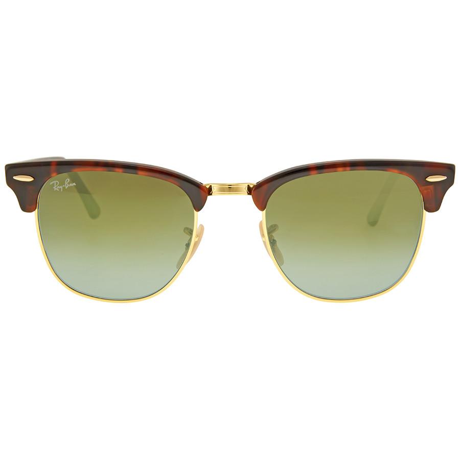 Солнцезащитные очки Ray-Ban Clubmaster Green Gradient Flash RB30169909J51