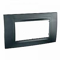 SHNEIDER ELECTRIC UNICA ALLEGRO Рамка четырехмодульная Серый графит