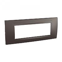 SHNEIDER ELECTRIC UNICA ALLEGRO Рамка шестимодульная Серый графит