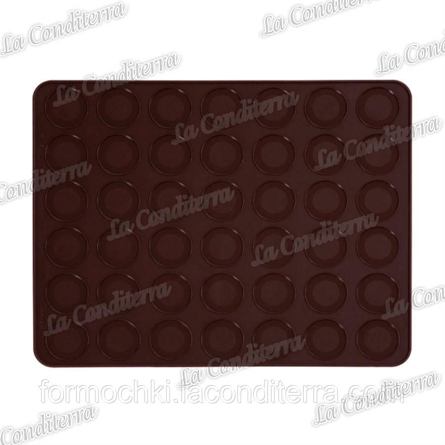 Силиконовый коврик для выпечки макаронс PAVONI FRFMACMRAS