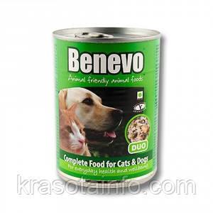 Benevo веганские  консервы для кошек и собак 369 г