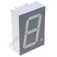 Зеленый семисегментный LED индикатор FYS-10012 BG-21 (24*10,5*34) 1-разрядный FORYARD (общий анод)