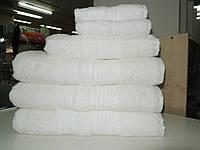 Полотенце махровое банное БЕЛОЕ бамбук+хлопок MOOD