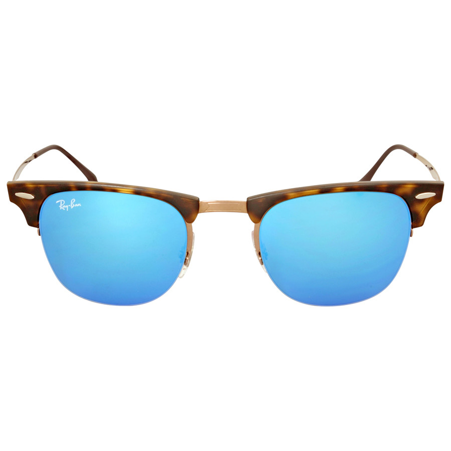 Солнцезащитные очки Ray- Ban Clubmaster Light Ray Blue Mirror RB8056 175/55