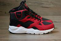"Кроссовки зимние Nike Huarache Winter ""Black/Red/White"", фото 1"