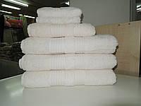 Полотенце махровое банное КРЕМОВОЕ бамбук+хлопок MOOD