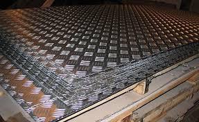 Лист алюминиевый  рифленый квинтет АД0 ( 1050) 1,5х1500х3000 мм купить цена порезка доставка