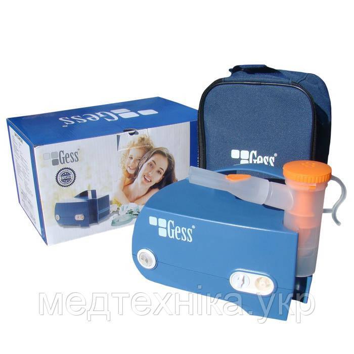 Ингалятор - небулайзер компрессорный GESS MCNS 600MD для взрослых и детей, Польша