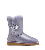 Женские угги UGG Australia Bailey Button  I DO! Purple (Оригинал), фото 1