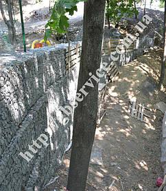 Строительство подпорной стенки из габионов