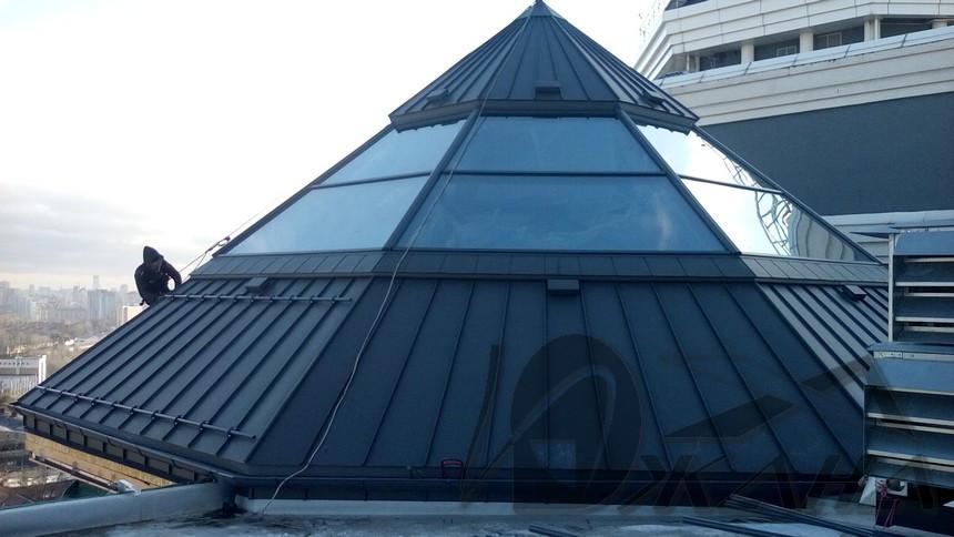 Фальцевая кровля купола по ул. Дегтяревская, 25а в г. Киеве 5