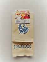 Полотенца кухонные льняные с орнаментом и петушком