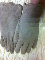 Кашемировые бежевые перчатки