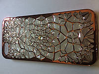 Чехол силиконовый с камнями для Iphone 5/5s