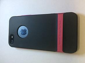 Чехол накладка на заднюю панель Rock для iPhone 5/5S розовая
