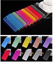 Чехол накладка ультратонкий пластик для Iphone 5/5s красный
