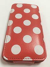 Чехол Viva Flip Case Горошек для iPhone 4\4S красный