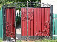 Ворота металлические (10 фото)