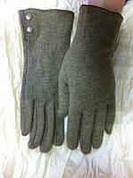Кашемировые перчатки одинарные с кнопками
