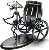 """""""Рикша"""" - фигурка из металла, подсатвка для ручек"""