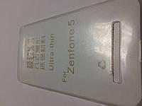 Силикон ультратонкий прозрачный для Asus ZenFone 5 white