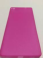 Чехол накладка ультратонкий пластик для Huawei P8 pink