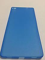 Чехол накладка ультратонкий пластик для Huawei P8 blue