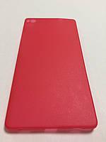 Чехол накладка ультратонкий пластик для Huawei P8 red
