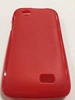 Чехол цветной силикон для Lenovo A369 красный