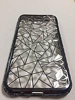 Чехол силиконовый алмазная грань для Samsung J5 J500 серый