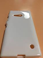 Силикон цветной для Nokia Lumia 730 white
