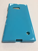 Силикон цветной для Nokia Lumia 730 blue