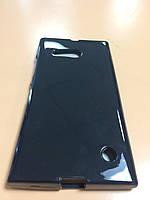 Силикон цветной для Nokia Lumia 730 black
