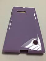 Силикон цветной для Nokia Lumia 730 violet