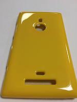 Силикон цветной для Nokia Lumia 925 yellow