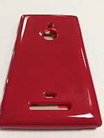 Силикон цветной для Nokia Lumia 925 red
