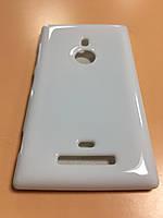 Силикон цветной для Nokia Lumia 925 white
